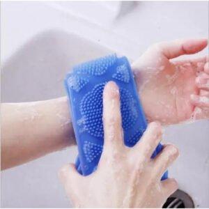 Ексфолираща силиконова гъба за баня за триене на гърба - potrebno